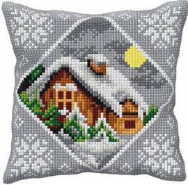 Winter Landscape Chunky Cross Stitch Kit by Orchidea