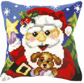 Santa Claus and Ted Chunky Cross Stitch Kit by Orchidea