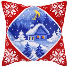 Winter Landscape Cottage Chunky Cross Stitch Kit by Orchidea
