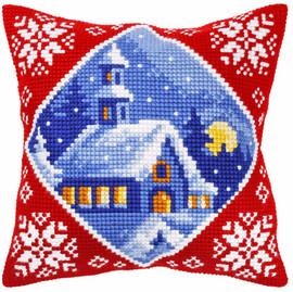 Winter Landscape Church Chunky Cross Stitch Kit by Orchidea