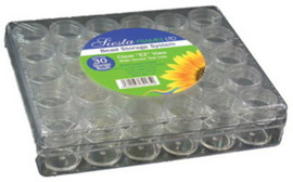 Slight Damage Clear Storage Box with 30 Jars