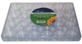 Slight Damage to Outer case Clear Storage Box with 24 storage boxes