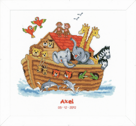 Noah's Ark Birth Record Counted Cross Stitch Kit By Vervaco