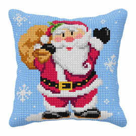 St. Claus Large Cushion Cross Stitch Kit By Orchidea