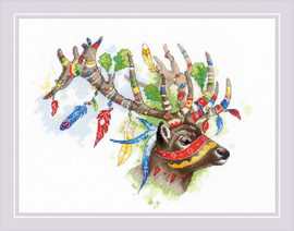 Noble Deer Counted Cross Stitch Kit By Riolis