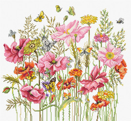 August Bouquet Cross Stitch Kit By Luca S