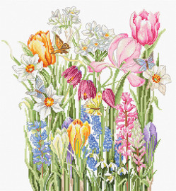 March Bouquet Counted Cross Stitch Kit By Luca S