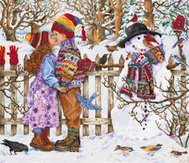 First Kiss Christmas Cross Stitch Kit By Luca S