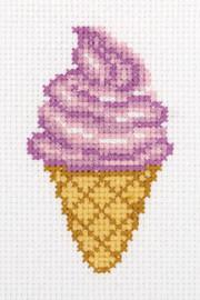 Ice Cream Counted Cross Stitch Kit by Klart