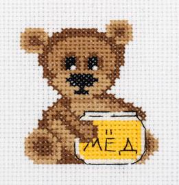 Little Bear Counted Cross Stitch Kit by Klart