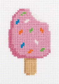 Ice Cream on a Stick Counted Cross Stitch Kit by Klart