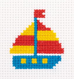 Little Ship Counted Cross Stitch Kit by Klart