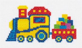 Railway Train Counted Cross Stitch Kit by Klart