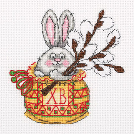 Bunny with Willow Counted Cross Stitch Kit by Klart