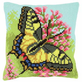 Butterfly Cushion Chunky Counted Cross Stitch Kit by Vervaco