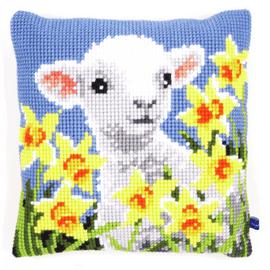 Lamb Cushion Cross Stitch Kit By Vervaco