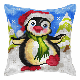 Penguin Large Cross Stitch Kit By Orchidea