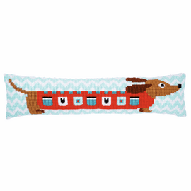 Cute Dog Draught Excluder Cross Stitch Kit By Vervaco