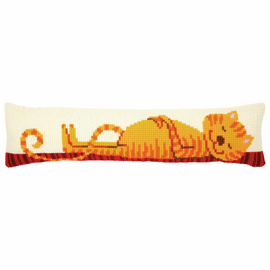 Funny Cat Draught Excluder Cross Stitch Kit By Vervaco
