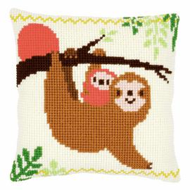 Sloth Cushion Cross Stitch Kit By Vervaco