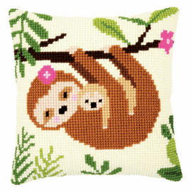Sloth With Baby Cross Stitch Kit By Vervaco