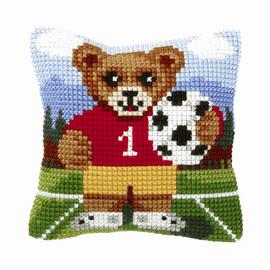Bear Small Cushion Cross Stitch Kit by Orchidea