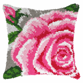 Large Rose Latch Hook Rug Cushion Kit by Orchidea