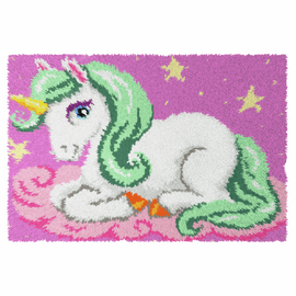 Unicorn Latch Rug Kit by Orchidea