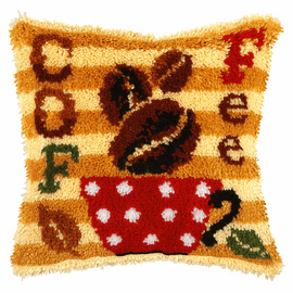 Large Coffee Latch Hook Rug Kit by Orchidea