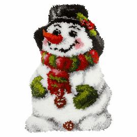 Snowman Shaped Latch Hook Rug Kit by Orchidea