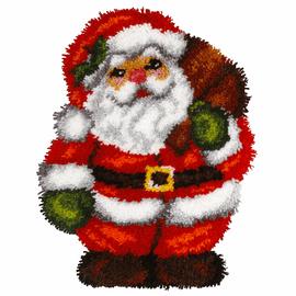 Santa Shaped Latch Hook Rug Kit by Orchidea