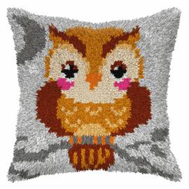 Small Owl Latch hook Cushion Kit by Orhidea