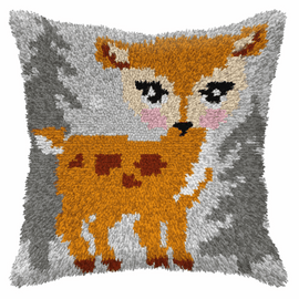 Small Doe Latch Hook Cushion Kit by Orchidea