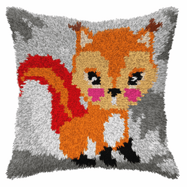 Small Squirrel Latch Hook Cushion Kit by Orchidea