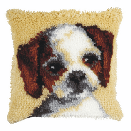 Small Dog Latch Hook Cushion Kit by Orchidea