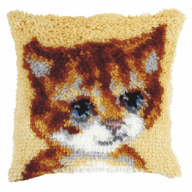 Small Cat Latch hook Cushion Kit by Orchidea