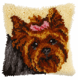 Small Yorkie Latch Hook Cushion Kit By Orchidea