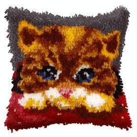 Small Kitten Latch Hook Cushion Kit by Orchidea