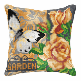 Rose and White Butterfly Chunky Cross stitch Kit by Orchidea