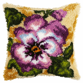 Large Pansy Latch Hook Rug Kit By Orchidea