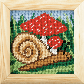 My First Printed Embroidery Kit Snail By Orchidea