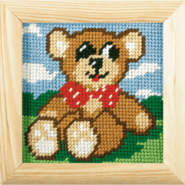 My First Printed Embroidery Kit Teddy By Orchidea
