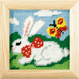 My First Printed Embroidery Kit Rabbit By Orchidea