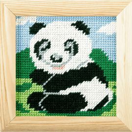 My First Printed Embroidery Kit Panda By Orchidea