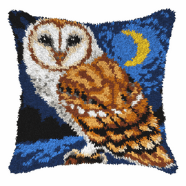 Owl in the Night Latch Hook Kit By Orchidea