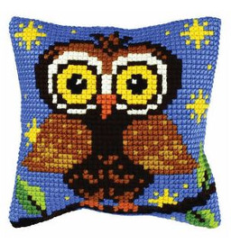 Cross Stitch Kit: Cushion: Small: Owl by Orchidea