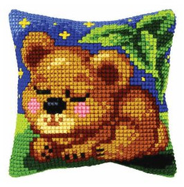 Cross Stitch Kit: Cushion: Small: Cub by Orchidea