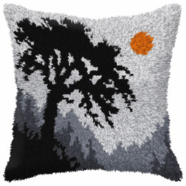 Forest at Night Large Cushion Latch Hook Kit by Orchidea