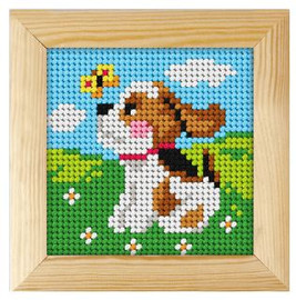 Printed Needlepoint Kit: Puppy by Orchidea