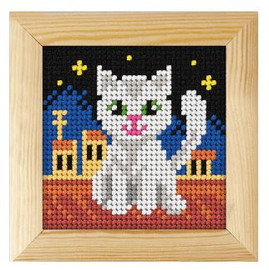 Printed Needlepoint Kit: Cat by Orchidea